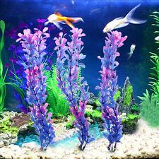 3Pcs Aquatic Plants Purple Stone Artificial Fish Tank Aquarium Foreground Decor