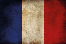 Francia france bandera bandera Flag chapa escudo Escudo metal Tin sign 20 x 30 cm