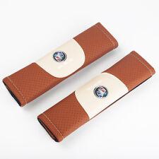 2Pcs Brown Color Car Seat Belt Shoulder Cushion Cover Pad Fit For Buick Auto