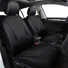 Black Universal Car Seat Covers Front Rear Full Set PU Leather Auto Accessories