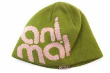ANIMAL - Womans Green Beanie Hat Size One Size
