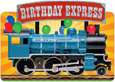 Birthday Express Train Die Cut Foil Paper House Birthday Card For Kids