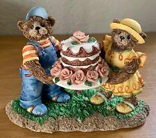 "FITZ and FLOYD Honeybourne Hollow ""You Take the Cake"" Bears Figurine"