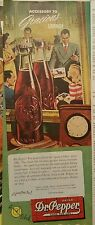 1946 Dr Pepper soda good for life glass bottle business people social hour  ad