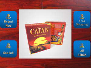 Settlers of CATAN Trade Build Settle Party Game Edition New & Sealed AU STOCK