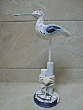 Seaside Coastal Wooden Blue /& White Seagull on a Stand  Single or Pair