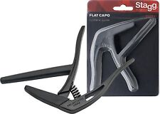 STAGG SCPX-FL Flat trigger STYLE capo for classical guitar BLACK