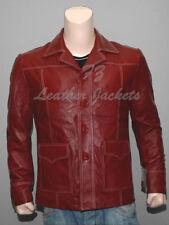 Fight Club Brad Pitt Leather Jacket FC Coat Red