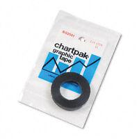 "Chartpak Graphic Tape, 0.25"""" W x 27 ft, Black, 1/Roll, RL - CHABG2501"
