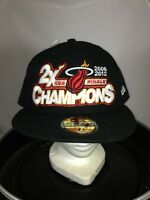 Miami Heat NBA Finals 2006/2012 Champions New Era Fitted Cap Hat NWT