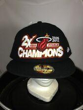 Miami Heat NBA Finals 2006/2012 Champions New Era Fitted Cap Hat NWT