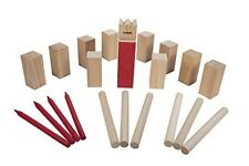 Triumph Kubb Viking Chess Outdoor Wooden Game Set Combines Bowling and Horses...