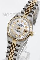 Rolex Ladies Datejust Gold & Steel White MOP Diamond Dial & Bezel Jubilee 2Tone