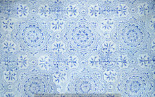 5 Yard Indian Hand Block Print Cotton Fabric Gray Running Loose Printed Decor