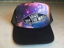 NEW!  Vans Off The Wall classic SnapBack Trucker Cap foam mesh space galaxy star
