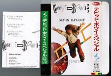 DAVID BOWIE Day-In Day-Out JAPAN VHS VIDEO TT28-7020HI w/SLIP CASE+INSERT FreeSH