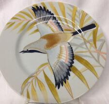 "FITZ FLOYD JAPAN AUTUMN BIRD SALAD PLATE 7 1/2"" FULL WINGED FLYING BIRD"