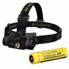 Nitecore HC60 1000 Lumens USB Rechargeable XM-L2 U2 LED Headlamp 3400mAh Battery