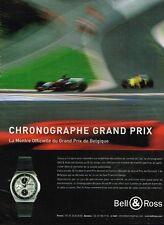 Publicité advertising 2004 La Montre Chronographe Grand Prix Bell & Ross
