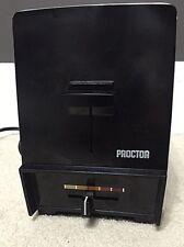 Vintage Proctor Silex 20617 Black & Chrome Pop Up 2 Slice Toaster