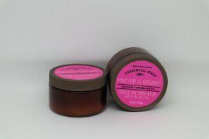 Bath & Body Works TRIPLE OIL BODY BALM 4 oz  Mint Leaf Bergamot Peppermint