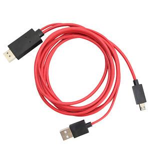 MHL auf HDMI Adapter HD TV Kabel für Samsung Galaxy S3 zu Micro USB 2.0 2m 11Pin