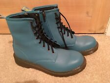 Sky Blue Dr Martens Softy Youth Delaney Pebble boots size 5 (38) BRAND NEW