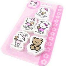 Set De 5 Gommes Hello Kitty * NEUF *