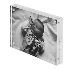 6 x 4 Acrylic Photo Frame/Block, Free Standing