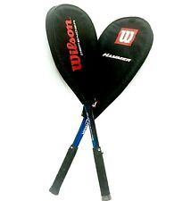 Lot of 2 WILSON Squash Racquets DEFENDER Aero High Beam & HAMMER Ti Comp Racket