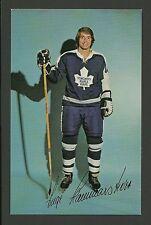 Inge Hammarstrom 1970s Toronto Maple Leafs Hockey Postcard