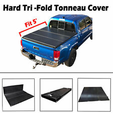 5' Short Bed Hard Tri-Fold Tonneau Cover For 2005-2018 Toyota Tacoma