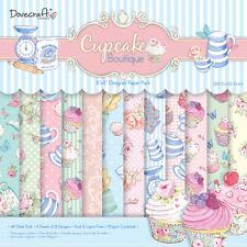 12 Sheets Dovecraft 8 x 8 Scrapbook Paper Cupcake Boutique / Papel de Magdalena