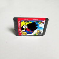 Super Mario World 64 - 16 bit Game Card For Sega Genesis / Mega Drive System