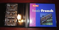 BERLITZ Basic French Course Cassettes 192 Page Study Guide Hard Case