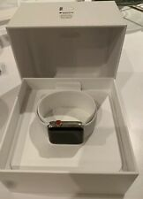 Apple Watch Series 3 (42mm) - Stainless Steel Case & White Sport Band GPS + LTE