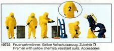 Preiser 10733 Feuerwehrmänner mit Vollschutzanzug