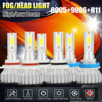 6x CREE 9005+9006+H11 LED Headlight Kits Hi/Lo Power 6000K White 2000W 480000LM