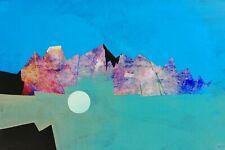 ANTONIO PANICO (1936-2003) artista, Dipinto opera unica, tecnica mista e collage