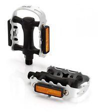 XLC MTB ATB Pedal PD-M01 silber schwarz mit abnehmbarem Reflektor