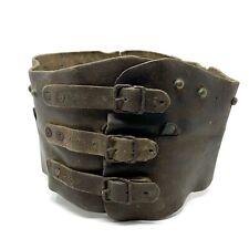 Miller Bros. 101 Ranch Wild West Show Vintage Leather Bronc Rider Kidney Belt