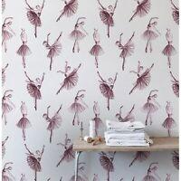 Removable wallpaper Prima ballerina Pink wall mural Girly room Nursery wall art