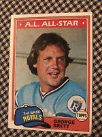 1981 Topps George Brett Kansas City Royals #700 Baseball Card