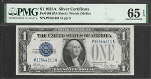 1928A $1 Silver Certificate PMG 65 EPQ