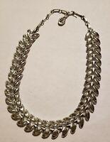 Vintage Signed Coro Silvertone Choker Necklace