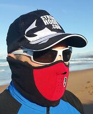RED 'WINTER' FACE SHIELD / HEAD SOCK / BALACLAVA - UV & WIND BUFFER FOR FISHING