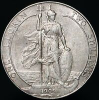 1909 Edward VII Silver One Florin/Two Shillings | British Coins | PenniesPounds