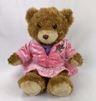 "Build A Bear Workshop Tan Bear Cutie Pink Velvet Outfit + Undibear 16"" BAB"