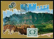 San MARINO MK 1977 3 torri Towers maximum carta carte MAXIMUM CARD MC cm bg41