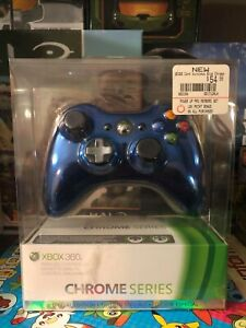 Microsoft Xbox 360 Wireless Controller. Blue Chrome Limited Edition. New, RARE.